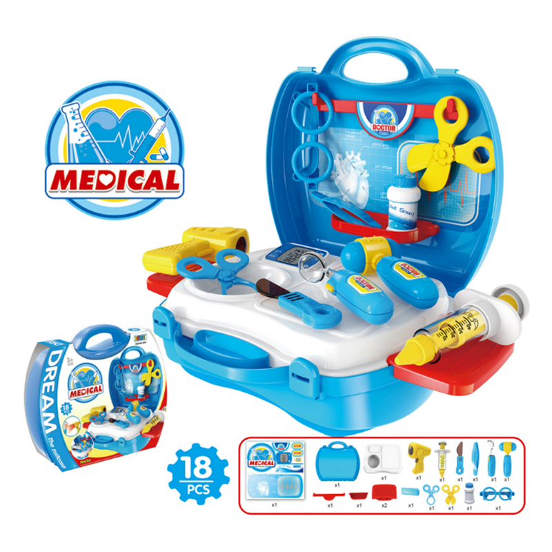 Classic Toys Kids Role Play Pretend Play Doctor Set  Simulation Hospital Child Medical Kit Doctor Toys Gift for kids