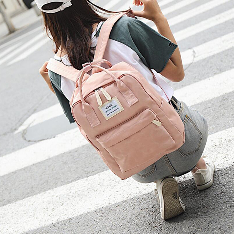 HTB1EQEzKeuSBuNjy1Xcq6AYjFXay Yogodlns Campus Women Backpack School Bag for Teenagers College Canvas Female Bagpack 15inch Laptop Back Packs Bolsas Mochila