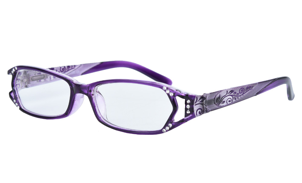 fd9c8dfc581fd Agstum Leitores Das Mulheres Qualidade Óculos Óculos de Leitura Dobradiças  de Mola Com Strass + 1 + 1.5 + 1.75 + 2 + 3 + 4