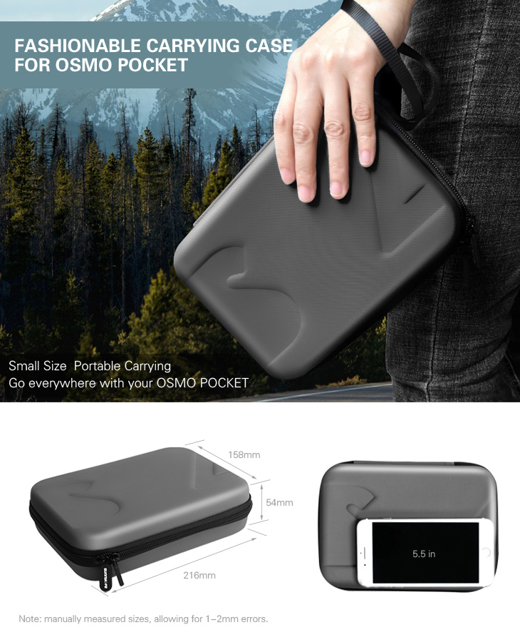 Sunnylife DJI Osmo Pocket Bag Handheld Gimbal Camera Stabilizer Box Carry Portable Case for DJI Osmo Pocket Gimbal Accessories 1