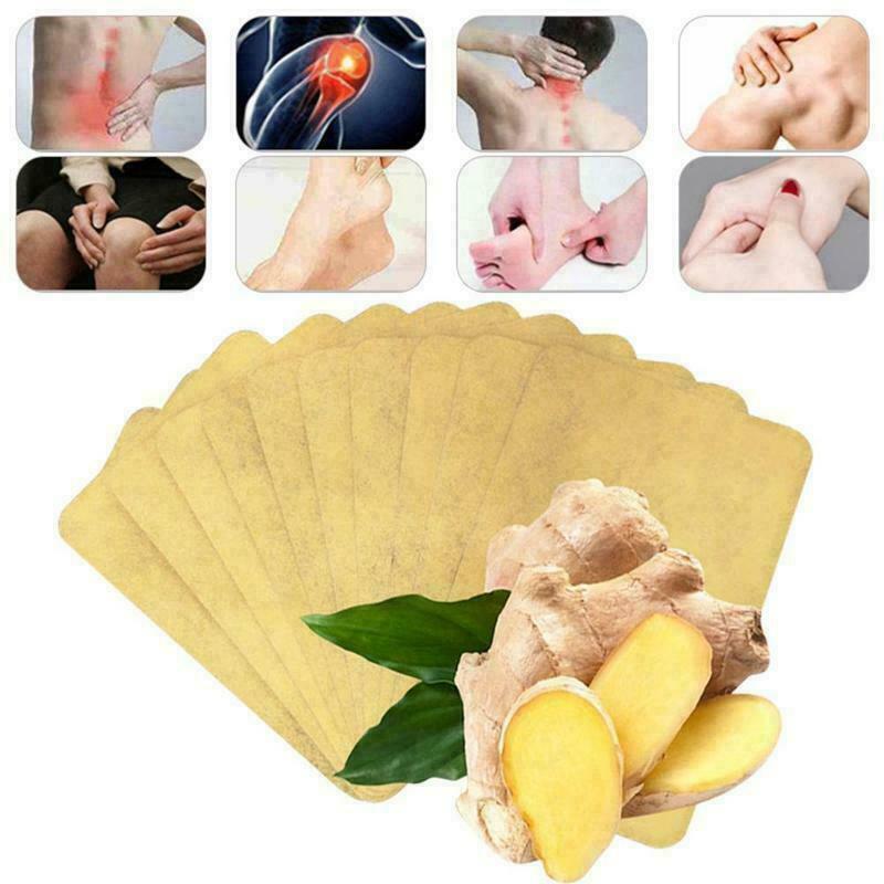 10 pçs remendos gengibre desintoxicação remendo corpo pescoço joelho almofada de ervas alívio da dor cuidados de saúde gengibre chinês ervas almofadas adesivas tslm1
