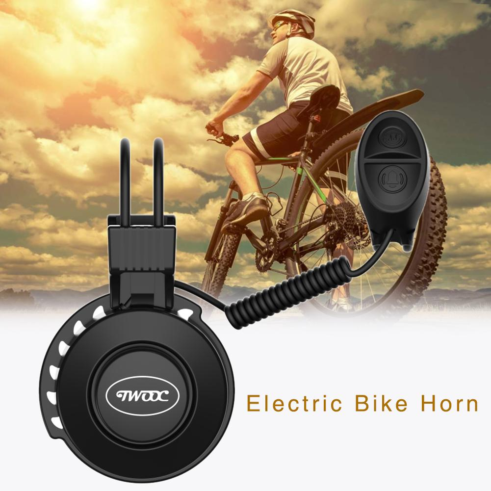 TWOOC Electronic Bicycle Bell Upgraded Charging Bike Horn Rechargeable Waterproof Low Noise Easy Install Cycling Accessories