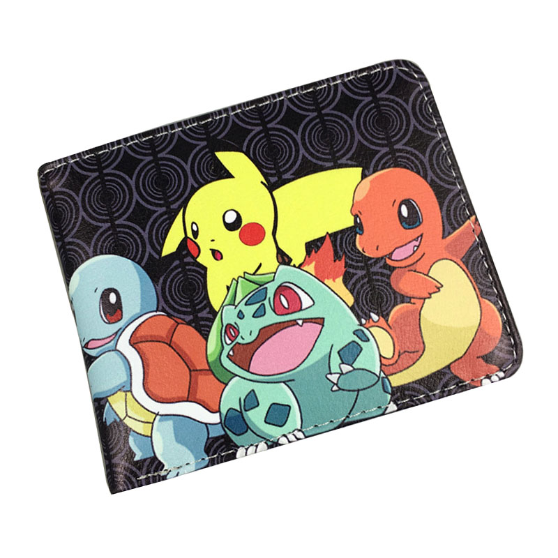 2017 New Arrival Pokemon Wallet Games Cartoon Anime Pocket Monster Purse Lovey Pikachu Print Dollar Money Bag Kids Short Wallets anime pocket monster flareon cosplay cap orange cartoon pikachu ladies dress pokemon go hat charm costume props baseball cap