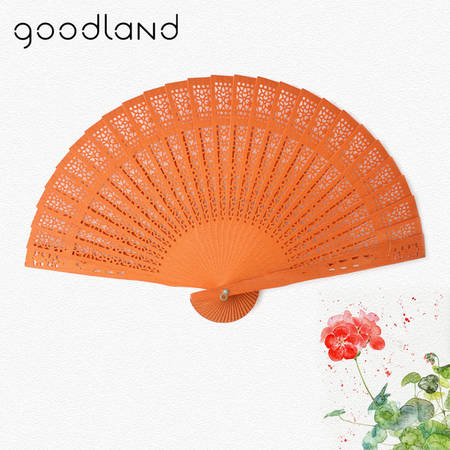 Free Shipping 50pcs Gift Bags Japanese Chinese Handmade Wooden Carved Plain Dyed Fan Wedding Decorations Party supplies