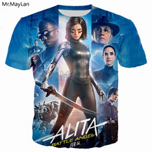 Mechanical Girl Movie Alita: Battle Angel Printed 3D Tshirt Men/Women Hiphop Streetwear Tee T shirt Boys Cool Tops Clothes 5XL