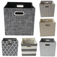 Foldable Canvas Fabric Storage Box Closet Cubes Bins Organizer Kid Toy Storage Bins Offices for Home Storage Organization#11