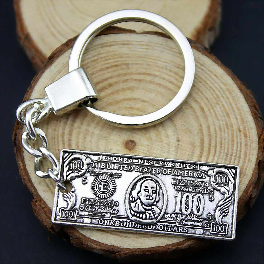 Money Us Dollar Keychain Souvenirs Key Holder Wedding Favors and Gifts for Guest Party Favors Festive Party Supplies YB12400