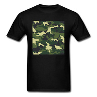 Tank T Shirt 2018 Men Manly Green Camouflage Print Black Tops Tees Quality Cotton Casual Clothing