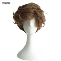Newt Scamander Short Culry Wig Fantastic Beasts and Where to Find Them Cosplay Synthetic Hair for Adult Halloween Role Play