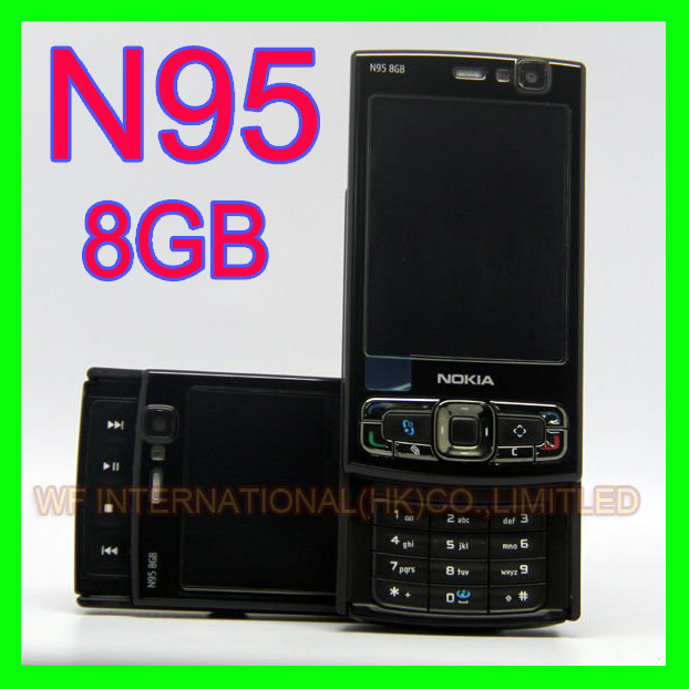 Original NOKIA N95 8GB Mobile Phone 3G 5MP Wifi GPS 2.8''Screen GSM Russian keyboard