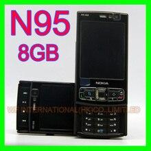 Originele Nokia N95 8 Gb Mobiele Telefoon 3G 5MP Wifi Gps 2.8 Screen Gsm Unlocked Smartphone Russische Toetsenbord arabisch Toetsenbord