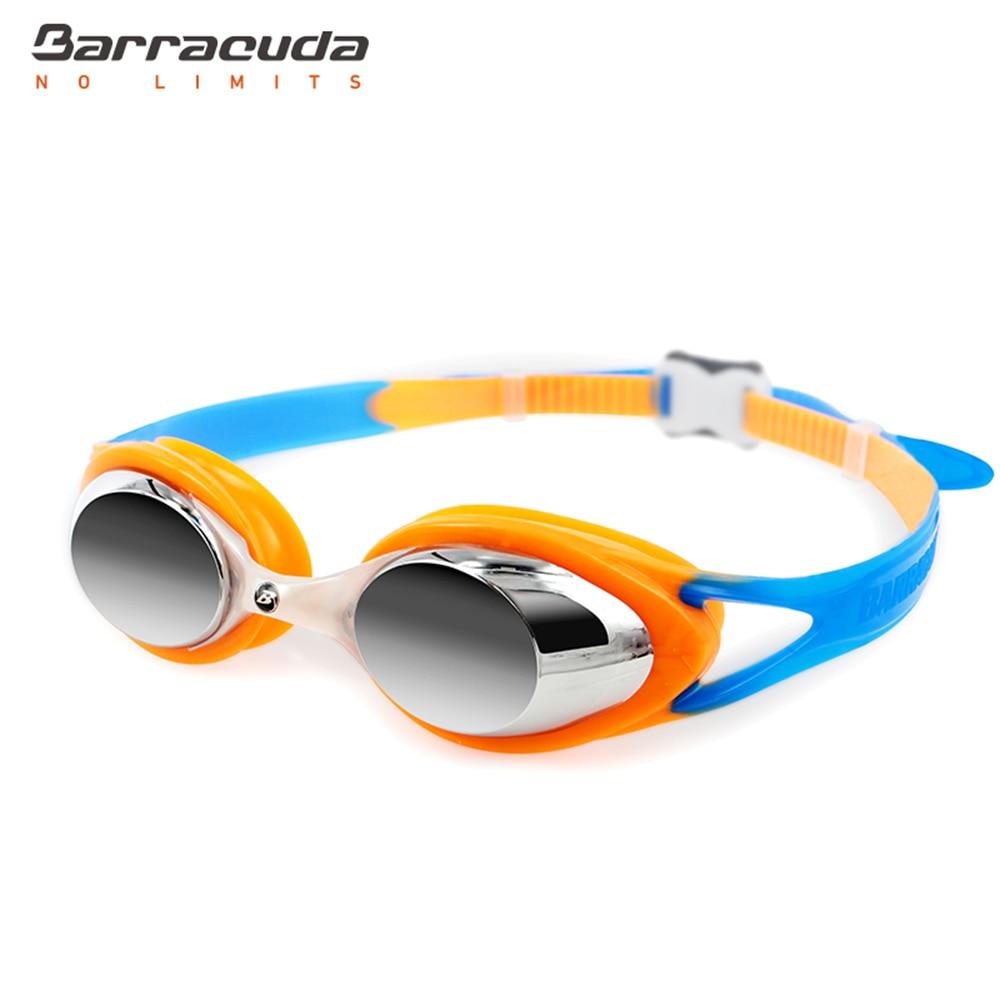 e549074e83e Barracuda Junior Swimming Goggles CARNAVAL Anti-fog UV Protection Anti-glare  Silicone Seals Strap for Kid GRAY  34710
