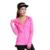 Das mulheres de alta elástica t-shirt de manga comprida com capuz t shirt mulheres zíper casaco mulher topos de fitness secagem rápida