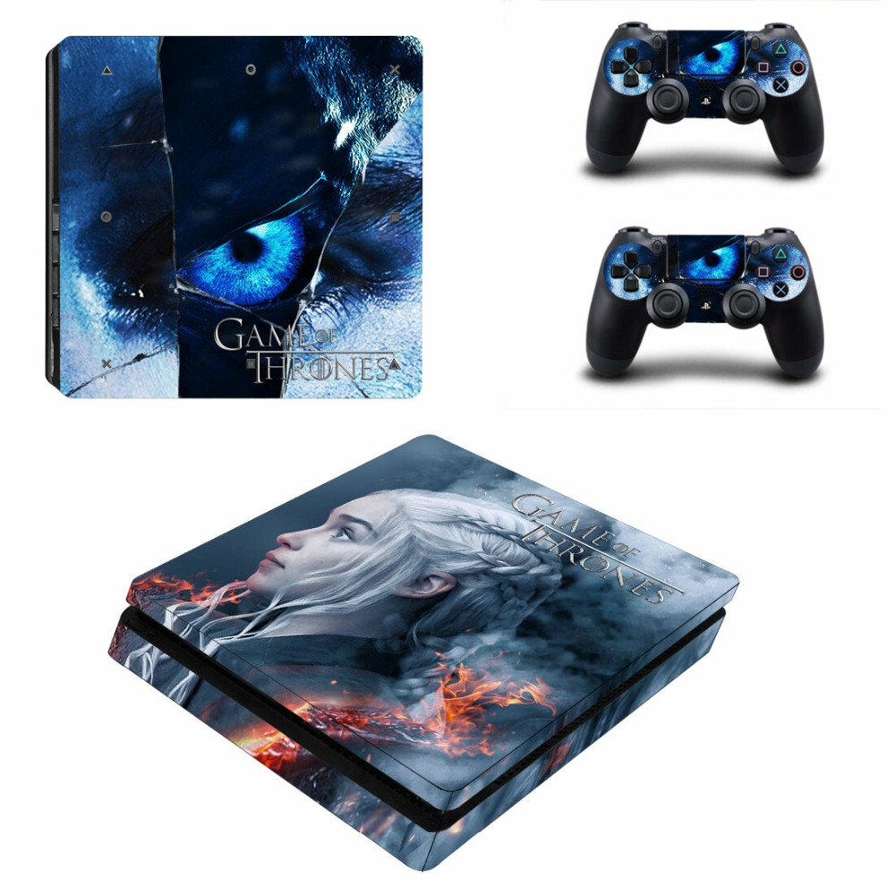 Game of Thrones GOT PS4 Slim Skin Sticker For Sony PlayStation 4 Console and 2 Controllers PS4 Slim Skin Sticker Decal