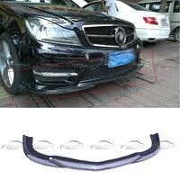 for Mercedes Benz W204 C300 2012 2014 For GOD HAND Style Front Lip Bumper Spoiler Splitter