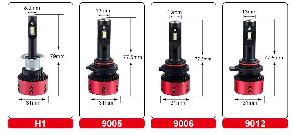Foxcncar Led H4 H7 H11 CSP Led Car Headlight Bulb Kit 16000LM 70W H7 Led DC 12V 9005 9006 9007 6500K Auto Front Lamp Car Styling (23)