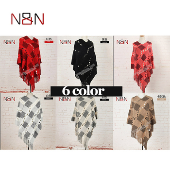 Spring Summer Women Hollow Out Sweater Knitted Tassel Shawl Poncho And Capes Ladies Long Size Cardigan Sweaters Coat 8