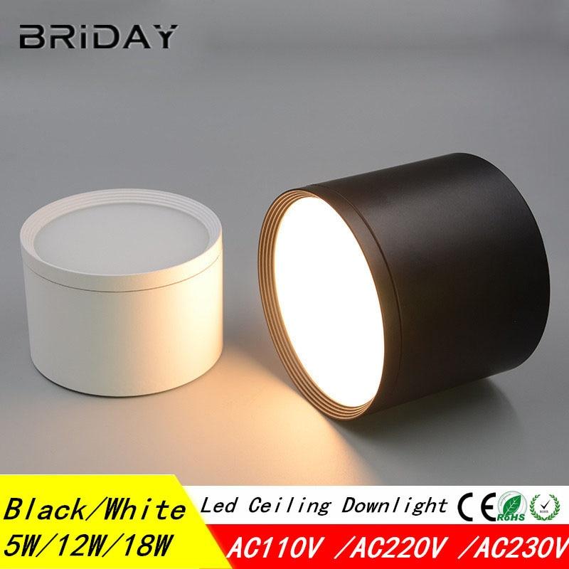 Deckenaufbaudownlight SMD5730 5 Watt 7 Watt 12 Watt 18 Watt AC85-265V lampe COB Led downlights Decken Spot licht + led-treiber
