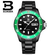 Швейцария Люксовый Бренд Binger Мужчины Спорт Военная Часы Кварцевые Часы Аналоговые Час Дата Часы Мода Повседневная Dive Наручные Часы