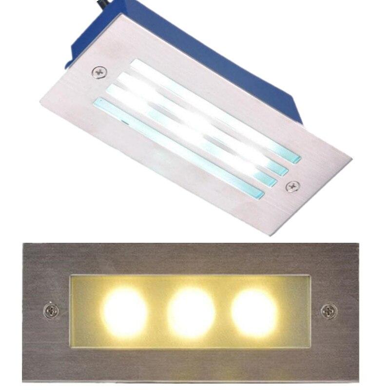 Qualifiziert 3x3 Watt/9 Watt Outdoor Led Schritt Licht Ip67 Edelstahl Embedded Treppe Ecke Lampe Wasserdichte Einbau Wand Treppen Lampe Footlight Modische Und Attraktive Pakete Licht & Beleuchtung Led-lampen