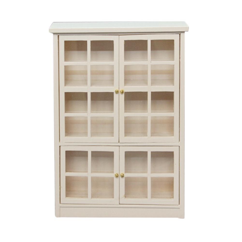 Симпатичные 1/12 Кукольный дом аксессуары модели двойного слоя хранения шкаф книжный шкаф