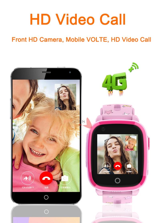 4G Camera GPS Watches WI-FI Kids Children Students Smart Wristwatch Sim Card/SOS/Video Call/ Monitor Tracker Location Waterproof 10