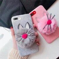 YENI MODA 3D Sevimli Bıyık iPhoneX Kediler Için Cep Telefonu Kılıfları 8 8 Artı 7 7 Artı 6 6 S 6 Artı Karikatür Plastik Koruyucu Kabuk vaka