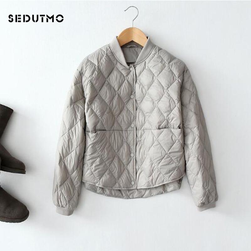 SEDUTMO Winter Ultra Light Duck Down Coat Womens Down Jackets Short Black Puffer Jacket Oversize Autumn Parkas ED475