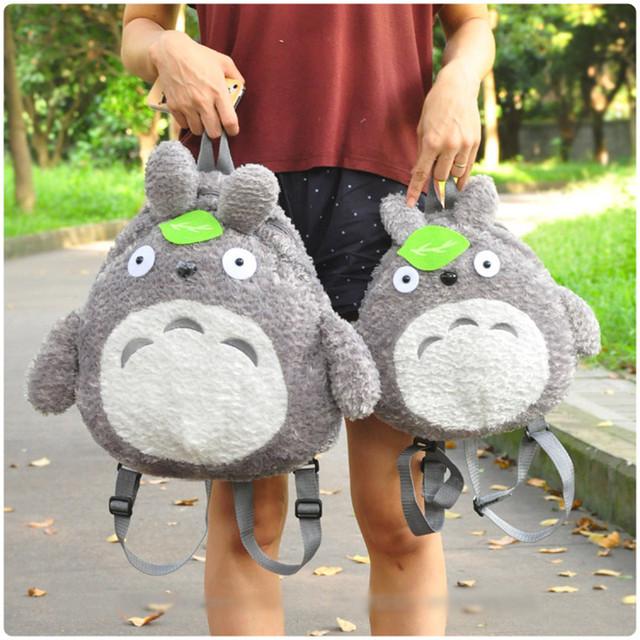 Kawaii Totoro Mochila De Pelúcia 30/45 cm Meu Vizinho Totoro Saco De Pelúcia para As Meninas de Pelúcia Macia Brinquedos Infantis de Aniversário presente de Natal