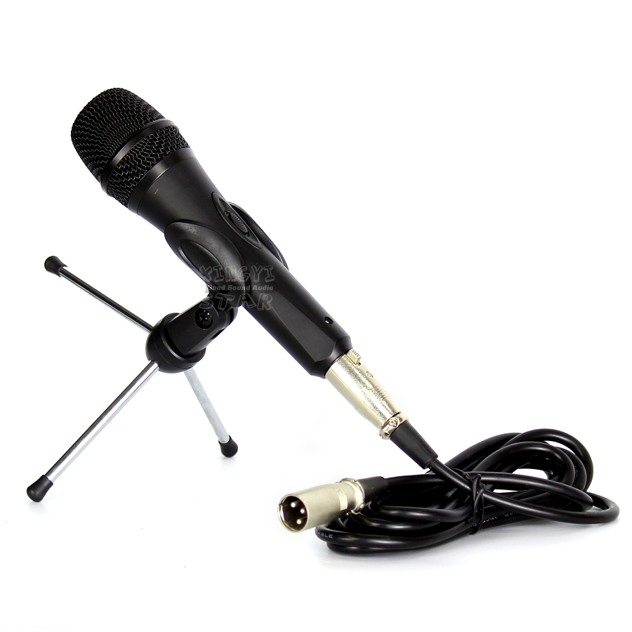 Professzionális kézi dinamikus mikrofon vezetékes mikrofonrendszer - Hordozható audió és videó