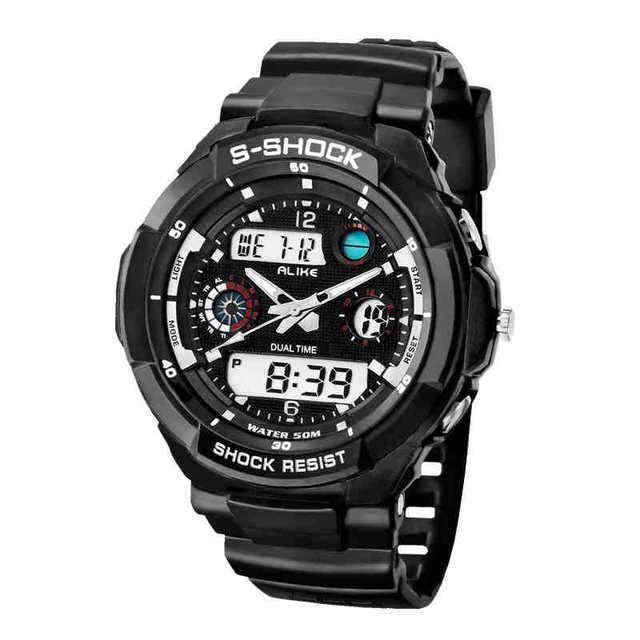 813dec1cb 2019 marca igual reloj Casual de los Hombres estilo G impermeable deportes  militar relojes Shock de