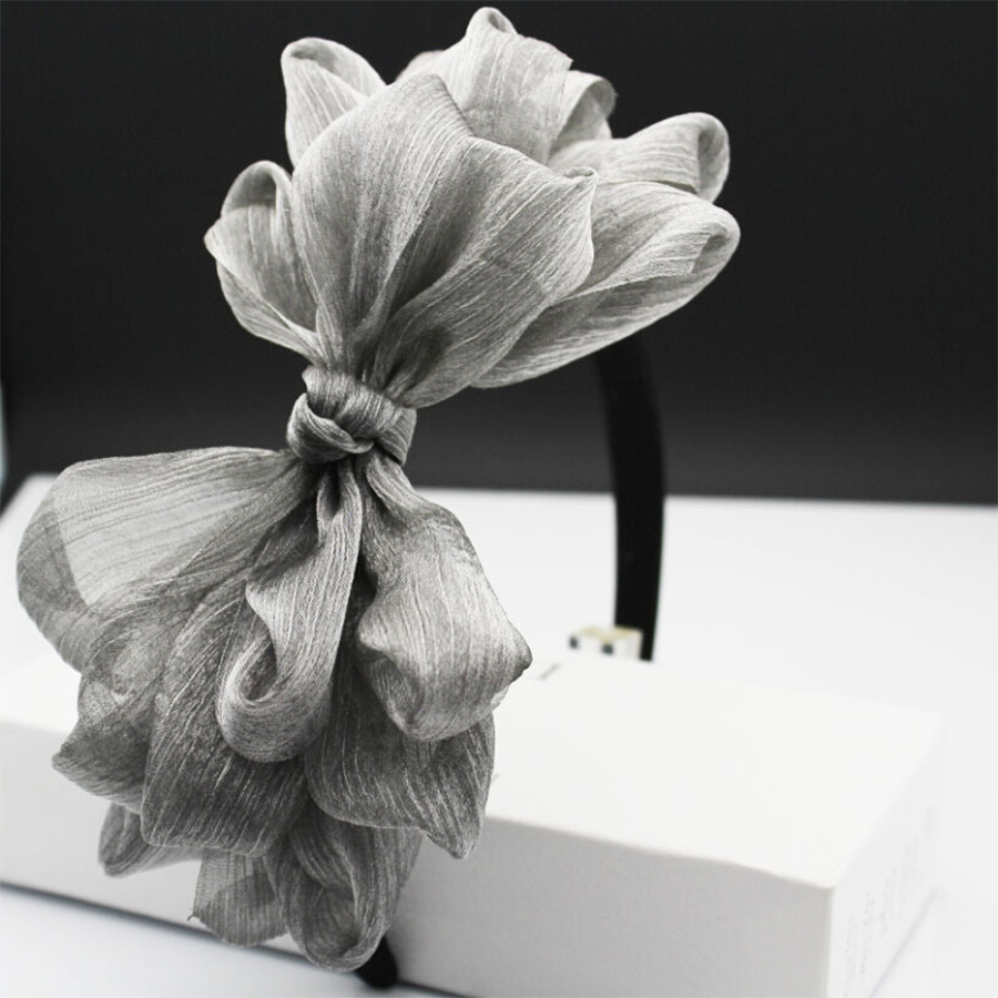 Vintage hair accessory holder - 1 X Cc Brand Style Vintage Lace Big Bow Hairbands Layers Veil Jewelry Headband Holder Hair