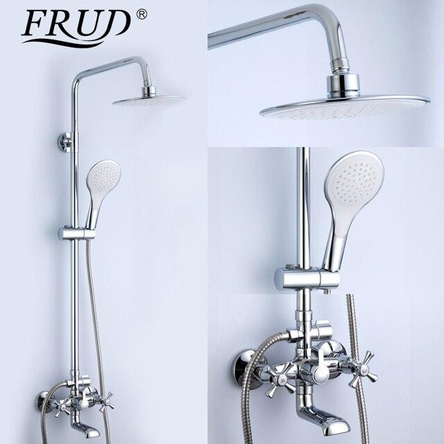 Frud 1set Bathtub Shower Bathroom Bath Rainfall Shower Restroom