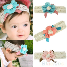 Hot Girl's Baby Infant Headband Flower Bow Clothing Accessories Toddler Children Hair Band  77KK