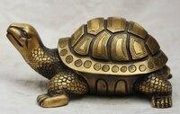 9 Китай Китайский Бронзовый народная дракон черепаха статуя фэн шуй