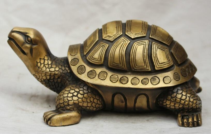 Statue de tortue de tortue de Dragon populaire chinois en Bronze de 9