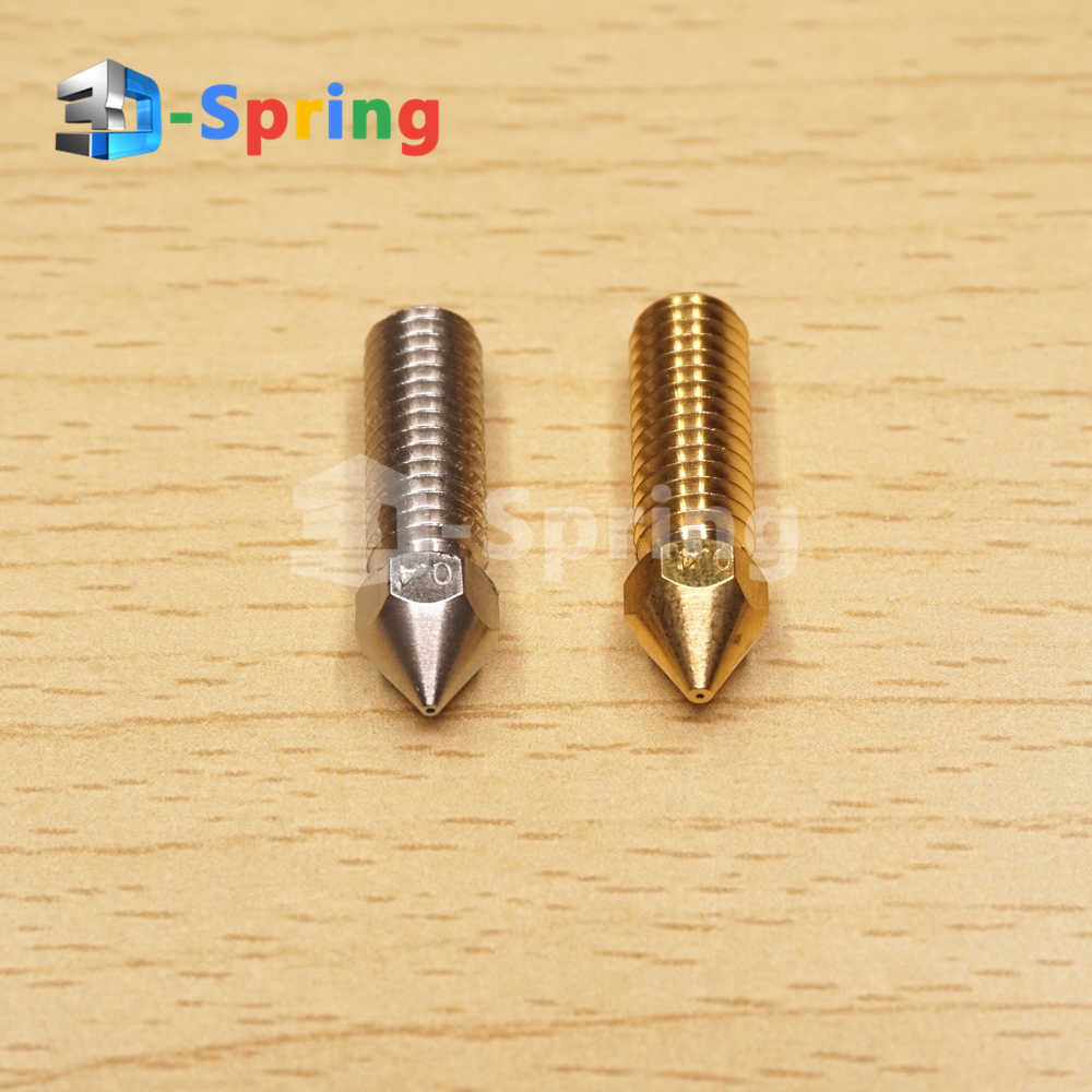 High Speed Volcano Nozzle Sharp Brass Copper Stainless steel 0.2 - 1.0mm Hotend Extruder For 1.75MM Filament 3D Printer 1pcs hardened steel volcano nozzles for high temperature 3d printing pei peek or carbon fiber filament for e3dvolcano hotend