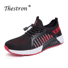 Thestron 2019 Running Shoes Lovers Summer Fashion Breathable Couples Sport Outdoor PU Anti Slip Sole Flat
