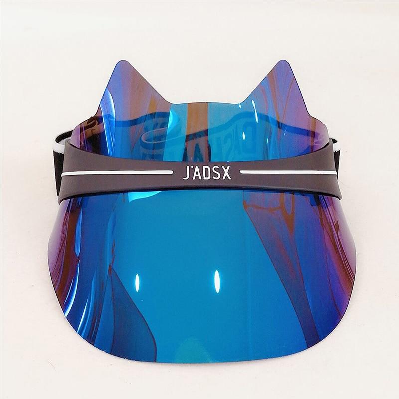 New Unisex Mens Womens Cap Fashion UV Protection Visor Hat Casual Letter Print Hat Cat Ear Cap Outdoor Adjustable Hat Summer