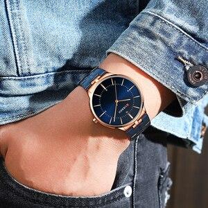 Image 5 - CURREN relojes de cuarzo para hombre, reloj de pulsera clásico negro con correa de acero inoxidable, resistente al agua hasta 30M, 2019
