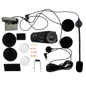 Image 5 - 2PCS 1000m Airide R2  Motorcycle Bluetooth Helmet Group Intercom Headset FM Radio MP3 Voice  Command Handsfree BT Interphone