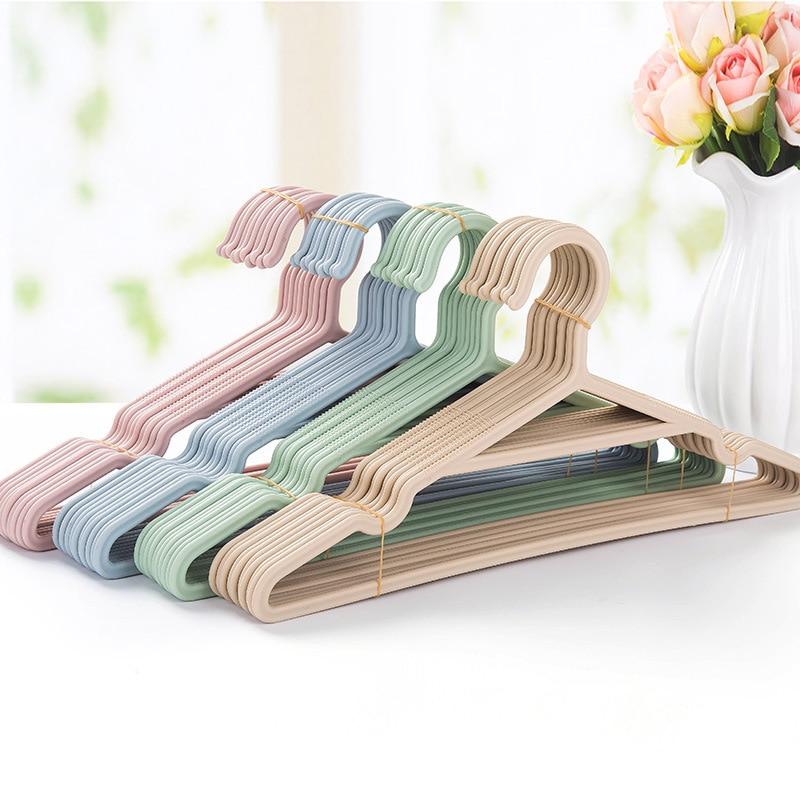 5pcs/Lot Portable Clothes Hangers Non-Slip Hook For Suit Coat Closet Garment Outdoor Drying Rack Plastic Clothing Hanger