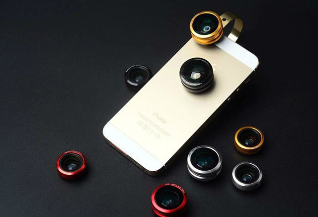 Anillo de metal teléfono móvil clip lente ojo de pez lente gran angular micro lente para doogee disparar 1, doogee x5 max pro f7 t6 pro x9 pro t5s