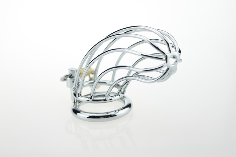 Adult Gift Stainless Steel Male Cock Cage Chastity Metal Sex Toys For Men 3 kinds of different Ring Size Choice 8