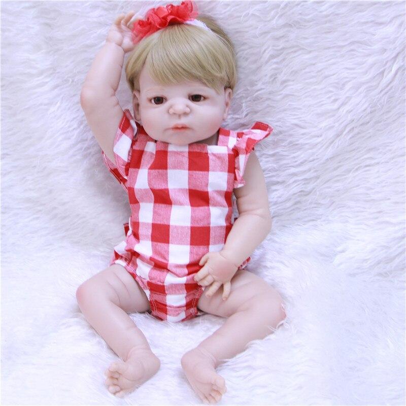 22 дюймов настоящие куклы Reborn полный силиконовый винил для девочек парик для волос Реалистичная мягкая кукла для малышей bonucas возрождённая