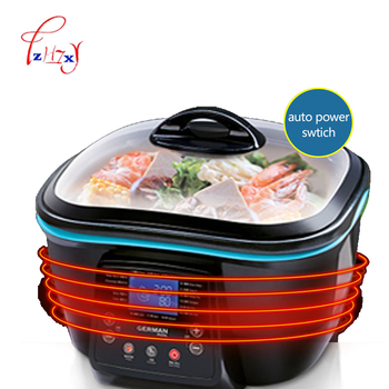 5L Multi-function Electric health pot Electric Cooker Hot Pot/grill/steam/pan fry/deep fry/bake/cake maker food Cooking DFC-818 6