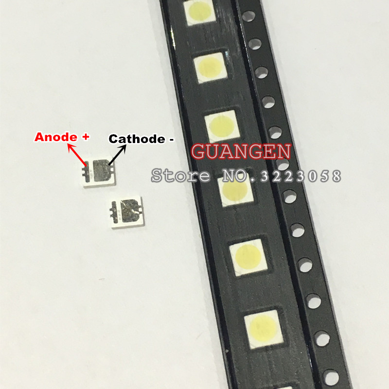 купить 50pcs SEOUL High Power LED LED Backlight 2W 3535 6V Cool white 135LM TV Application SBWVL2S0E New and Original по цене 380.79 рублей