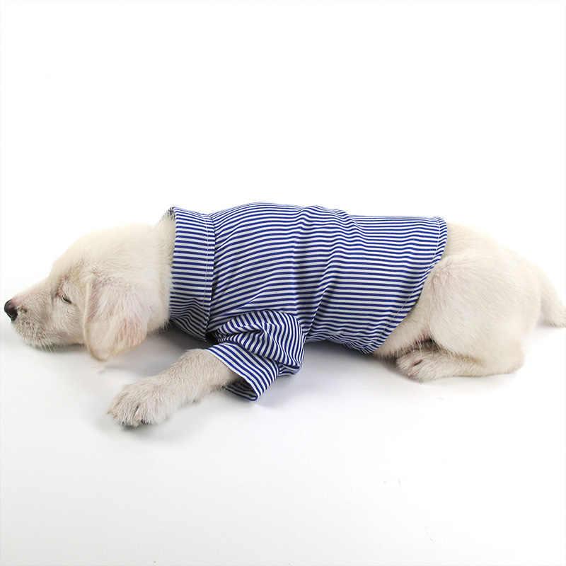 WANGUPET 2017 新ストライプ犬シャツブランドレジャー服ファッション社会カジュアルペットシャツスリムフィット長袖犬シャツ