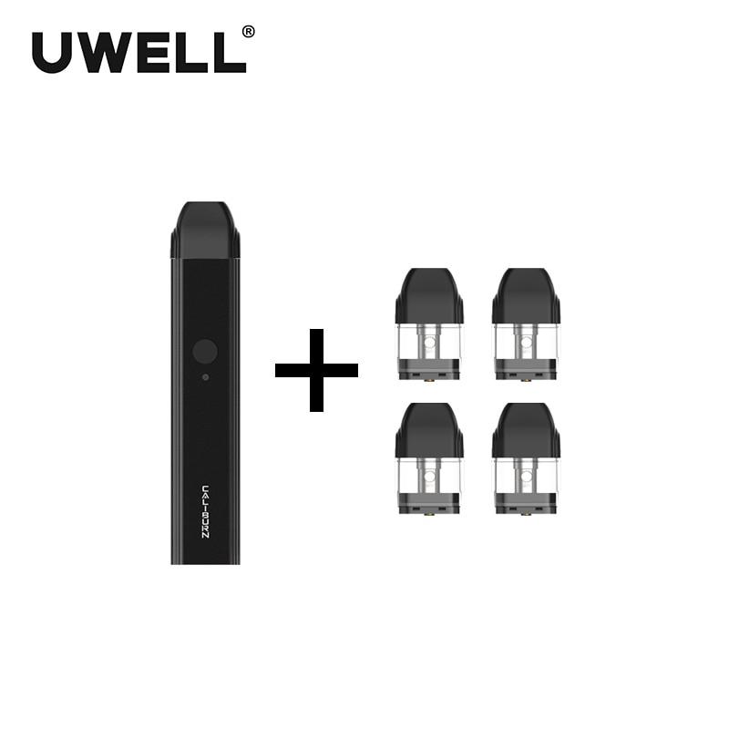 ¡En Stock! Kit de sistema portátil UWELL Caliburn y 1 paquete de cartucho rellenable de 2 ml kit de - 2