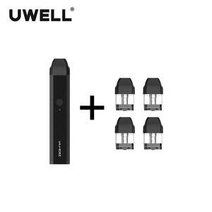 Image 2 - Uwell caliburn pod sistema kit 520 mah bateria e 1 pacote 2ml cartucho de pod recarregáveis sistema de pod de enchimento diretamente vape